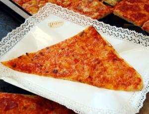 Pizza a spicchi margherita